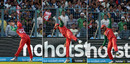 A composite shot of Soumya taking a catch by leaning across the boundary, Bangladesh v Pakistan, World T20 2016, Group 2, Kolkata, March 16, 2016