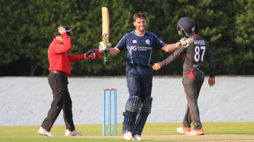 Calum MacLeod scores his third ODI century