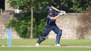 Calum MacLeod drives through the off side during his century, Scotland v UAE, ICC WCL Championship, Edinburgh, August 16, 2016