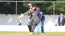 Shaiman Anwar pulls Michael Leask for six, Scotland v UAE, ICC WCL Championship, Edinburgh, August 16, 2016