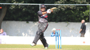 Shaiman Anwar pulls a short ball through the leg side, Scotland v UAE, ICC WCL Championship, Edinburgh, August 16, 2016