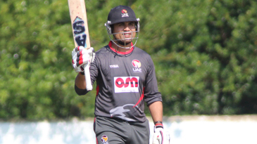 Shaiman Anwar brings up his sixth ODI half-century
