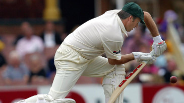 Steve Waugh plays the forward defense