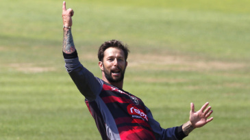 Peter Trego in celebratory mood at Taunton