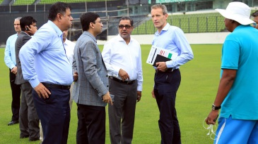 ECB's security delegation inspects the Shere Bangla National Stadium