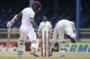 Kraigg Brathwaite makes it back to the crease as Wriddhiman Saha tries to stump him, West Indies v India, 4th Test, Port of Spain, 1st day, August 18, 2016