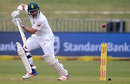Dean Elgar guides the ball to the off side, South Africa v New Zealand, 1st Test, Durban, 1st day, August 19, 2016