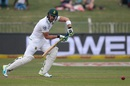 Faf du Plessis taps one to the off side, South Africa v New Zealand, 1st Test, Durban, 1st day, August 19, 2016