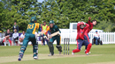 David Hooper completes a run to the leg side after mistiming a sweep, Jersey v Guernsey, ICC World Cricket League Division Five, St Martin, May 25, 2016