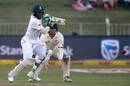 Temba Bavuma works one through the off side, South Africa v New Zealand, 1st Test, Durban, 1st day, August 19, 2016