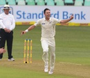 Trent Boult is ecstatic after picking up a wicket, South Africa v New Zealand, 1st Test, Durban, 1st day, August 19, 2016