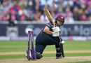 Ben Duckett was bowled for 84 off 47 balls, Nottinghamshire v Northamptonshire, NatWest T20 Blast, 1st semi-final, Edgbaston, August 20, 2016