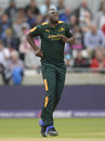 Andre Russell picked up three wickets despite bowling with an injury, Nottinghamshire v Northamptonshire, NatWest T20 Blast, 1st semi-final, Edgbaston, August 20, 2016