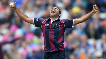 Azharullah celebrates after completing the final over