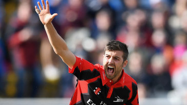 Mark Wood bowled a blistering over to Joe Root