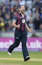 Steven Crook struck in his first over, Durham v Northamptonshire, NatWest T20 Blast final, Edgbaston, August 20, 2016