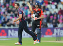 Ben Sanderson claimed the big wicket of Ben Stokes, Durham v Northamptonshire, NatWest T20 Blast final, Edgbaston, August 20, 2016