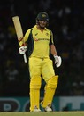 Aaron Finch reached his fifty off 37 balls, Sri Lanka v Australia, 1st ODI, R Premadasa Stadium, August 21, 2016