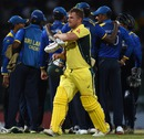 Aaron Finch looked markedly disgruntled after being given out, Sri Lanka v Australia, 1st ODI, R Premadasa Stadium, August 21, 2016