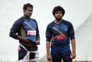 Angelo Mathews and Lasith Malinga have a word during practice, R Premadasa Stadium, August 23, 2016
