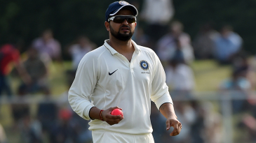 Suresh Raina fields with the pink ball