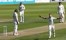 Stuart Meaker runs through to celebrate Kumar Sangakkara's catch, Surrey v Lancashire, County Championship, Division One, Kia Oval, August 23, 2016