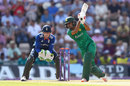 Babar Azam drives during his lively innings, England v Pakistan, 1st ODI, Ageas Bowl, August 24, 2016