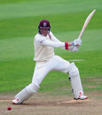 Craig Overton finished the day three runs short of a hundred, Somerset v Hampshire, County Championship, Division One, Taunton, 3rd day, August 25, 2016