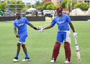 Dwayne Bravo and Kieron Pollard have a laugh in the nets, Lauderhill, August 25, 2016