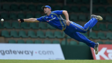 Shaun Marsh in action during a fielding drill