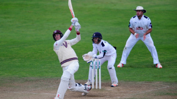 Craig Overton completed a maiden first-class hundred
