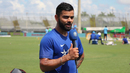 Virat Kohli takes care of some pre-match TV commitments, Lauderhill, August 26, 2016