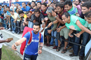 India fans swarm Virat Kohli for more selfies, Lauderhill, August 26, 2016