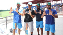 India players join San Diego Padres outfielder and Miami native Jon Jay in saluting the University of Miami, known as