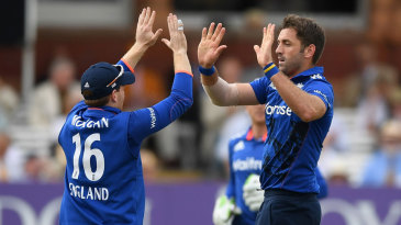 Liam Plunkett restored England's dominance with the wicket of Babar Azam