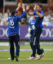 Liam Plunkett restored England's dominance with the wicket of Babar Azam, England v Pakistan, 2nd ODI, Lord's, August 27, 2016