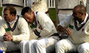 Marcus Trescothick cuddles up to Michael Burns during Somerset's photocall in Taunton, April 10, 2002