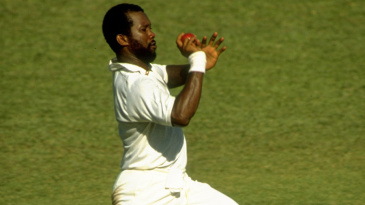 Malcolm Marshall in action