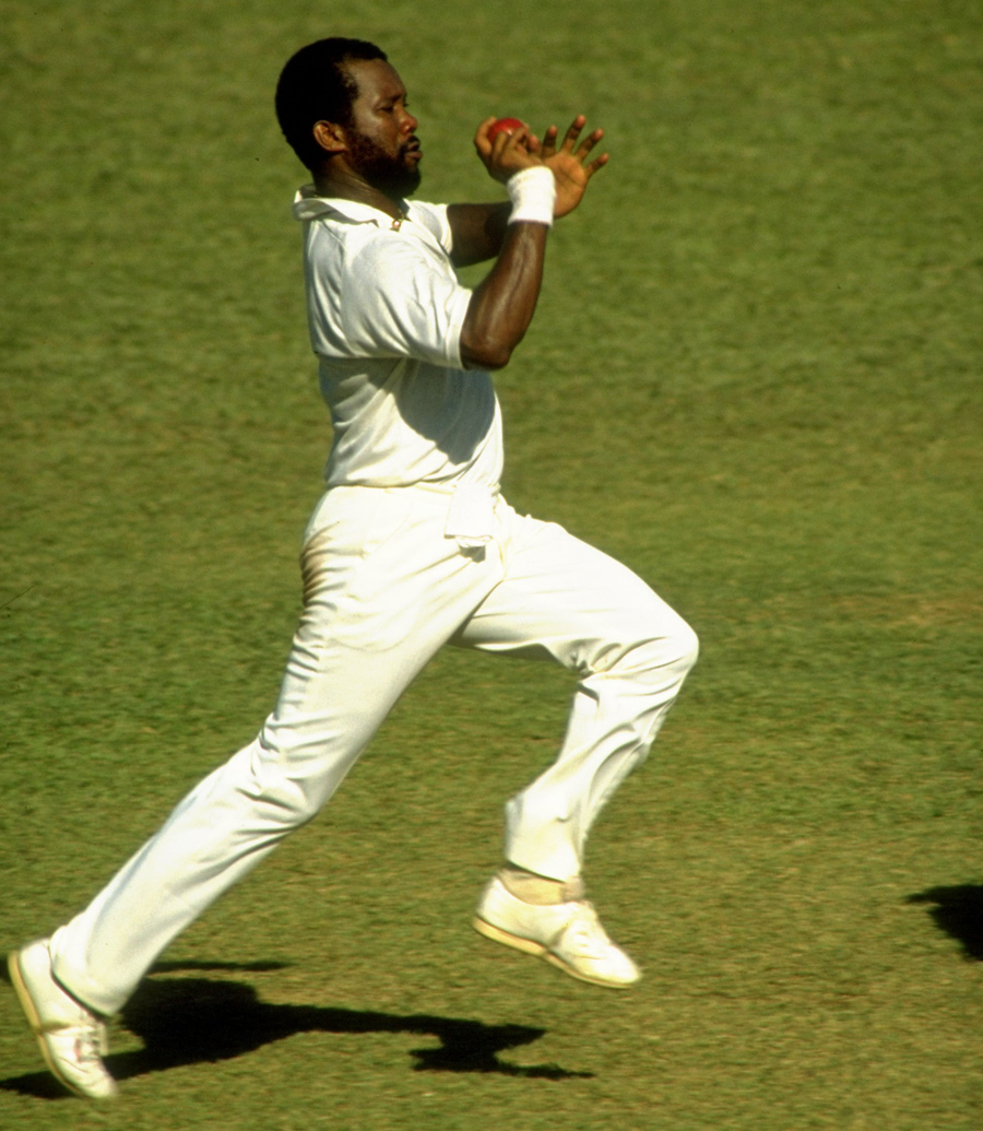 Malcolm Marshall In Action Cricket Photo Espn Cricinfo