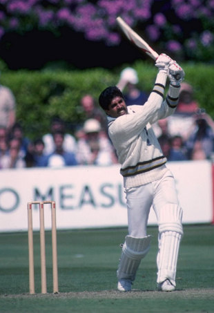 Kapil Dev crashes a boundary, India v Zimbabwe, World Cup, Tunbridge Wells, June 1, 1983