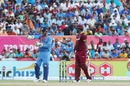 MS Dhoni adjusts the field during West Indies' opening carnage, India v West Indies, 1st T20I, Lauderhill, August 27, 2016