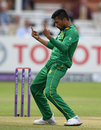 Mohammad Amir struck second ball to remove Jason Roy, England v Pakistan, 2nd ODI, Lord's, August 27, 2016