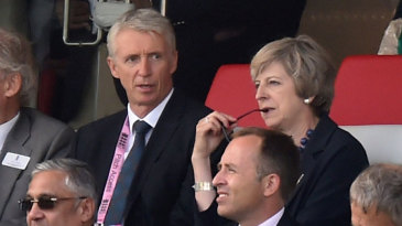 The Prime Minister, Theresa May, was a guest at the ODI