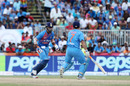 KL Rahul and MS Dhoni run between the wickets, India v West Indies, 1st T20I, Florida, August 27, 2016