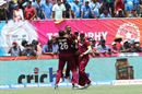 Dwayne Bravo exults with his team-mates after West Indies' one-run win, India v West Indies, 1st T20I, Florida, August 27, 2016