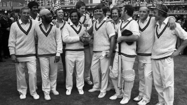 Northamptonshire players celebrate their Gillette Cup title win