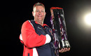 Ashley Giles poses with the Blast trophy, Northamptonshire v Lancashire, NatWest T20 Blast final, Edgbaston, August 29, 2015