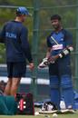 Avishka Fernando has a word with fielding coach Nic Pothas, Dambulla, August 30, 2016
