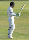 Henry Nicholls brings up his half-century, South Africa v New Zealand, 2nd Test, Centurion, 4th day, August 30, 2016