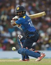 Sachith Pathirana glides the ball to third man, Sri Lanka v Australia, 4th ODI, Dambulla, August 31, 2016